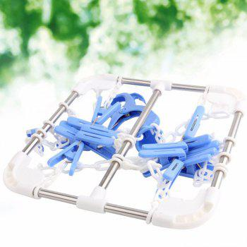 Household Socks Clothes Hanging Dryer with 16 Clips - BLUE BLUE
