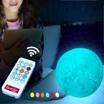 Moon Shape Remote Control Changing Colors LED Lamp - WHITE