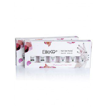 Elite99 6 Pieces Polish UV LED Soak Off Gel Nail Set with Sequins -