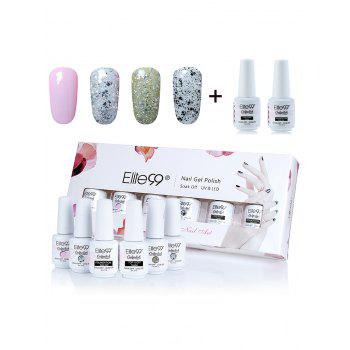 Elite99 6 Pieces Polish UV LED Soak Off Gel Nail Set with Sequins - #01
