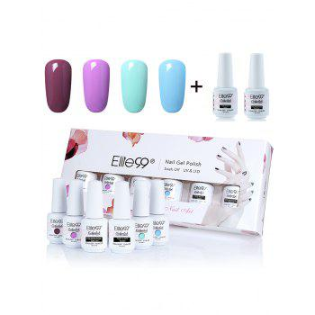 6Pcs Elite99 UV LED Soak Off Gel Polish Lacquer Nail Set - #01