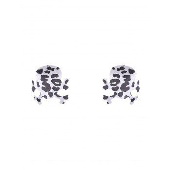 Skull Nipple Adhesive Sticker - WHITE AND BLACK WHITE/BLACK
