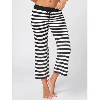 Striped Knit Wide Leg Lounge Pants