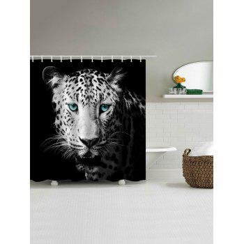black and white floral shower curtain. leopard print waterproof bathroom shower curtain - black white w71 inch * l79 black and white floral