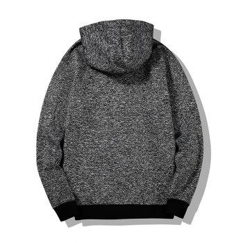 Heathered Flocking Hoodie - GRAY GRAY