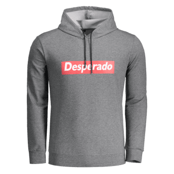 Desperado Graphic Marled Hoodie - DEEP GRAY DEEP GRAY