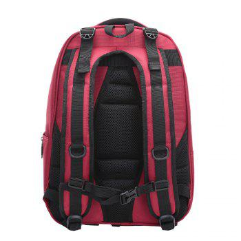 Multifunctional Padded Strap Laptop Backpack - RED RED