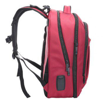 Multifunctional Padded Strap Laptop Backpack - RED VERTICAL