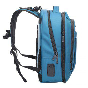 Multifunctional Padded Strap Laptop Backpack - BLUE BLUE