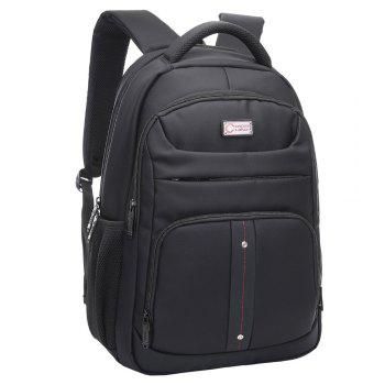 Padded Strap Top Handle Laptop Backpack - BLACK BLACK