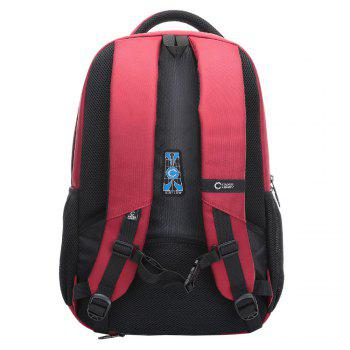 Padded Strap Top Handle Laptop Backpack - RED RED