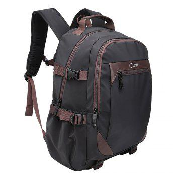 Top Handle Multi Buckles Laptop Backpack - BLACK BLACK