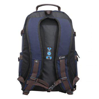 Contrast Color Multi Buckles Laptop Backpack - VERTICAL VERTICAL