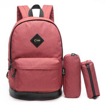 3 Pieces Backpack Set - RED RED