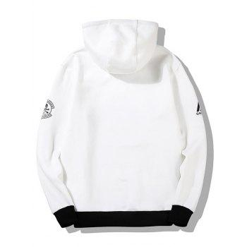 Graphic Flocking Hoodie - WHITE 3XL