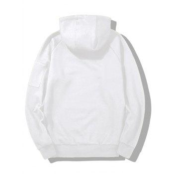Handle With Care Graphic Flocking Hoodie - WHITE 2XL