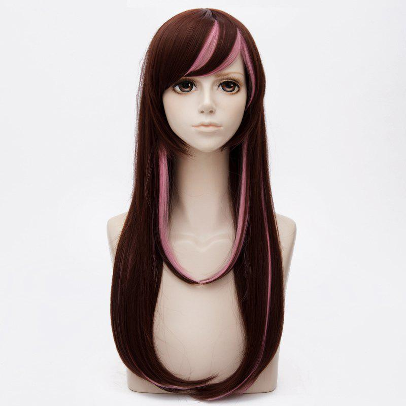 Long Side Bang Highlight Layered Straight Kizuna AI Cosplay Anime Wig аксессуары для косплея cosplay wig cosplay cos cos