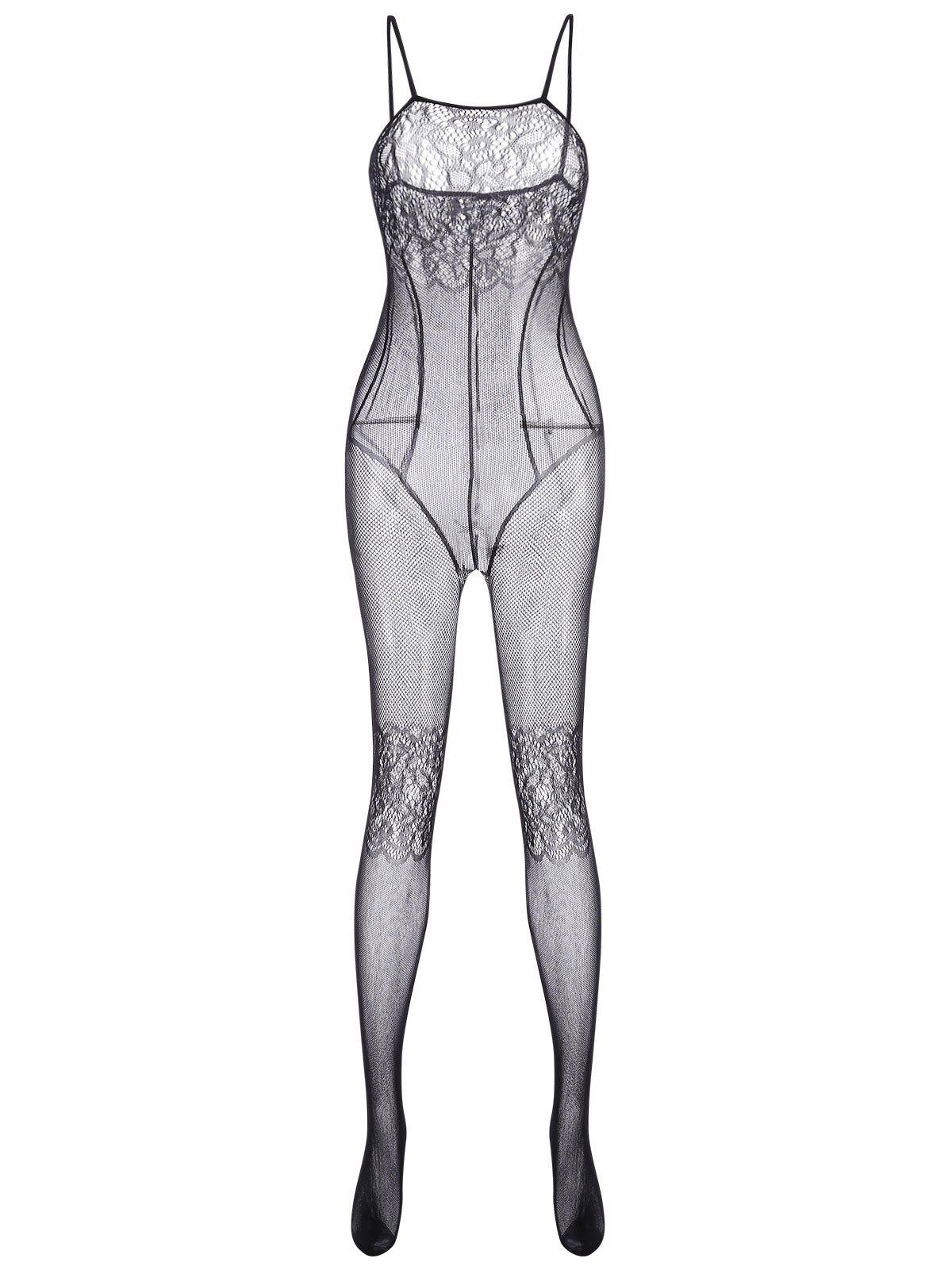 Fishnet See Thru Bodystockings - BLACK ONE SIZE
