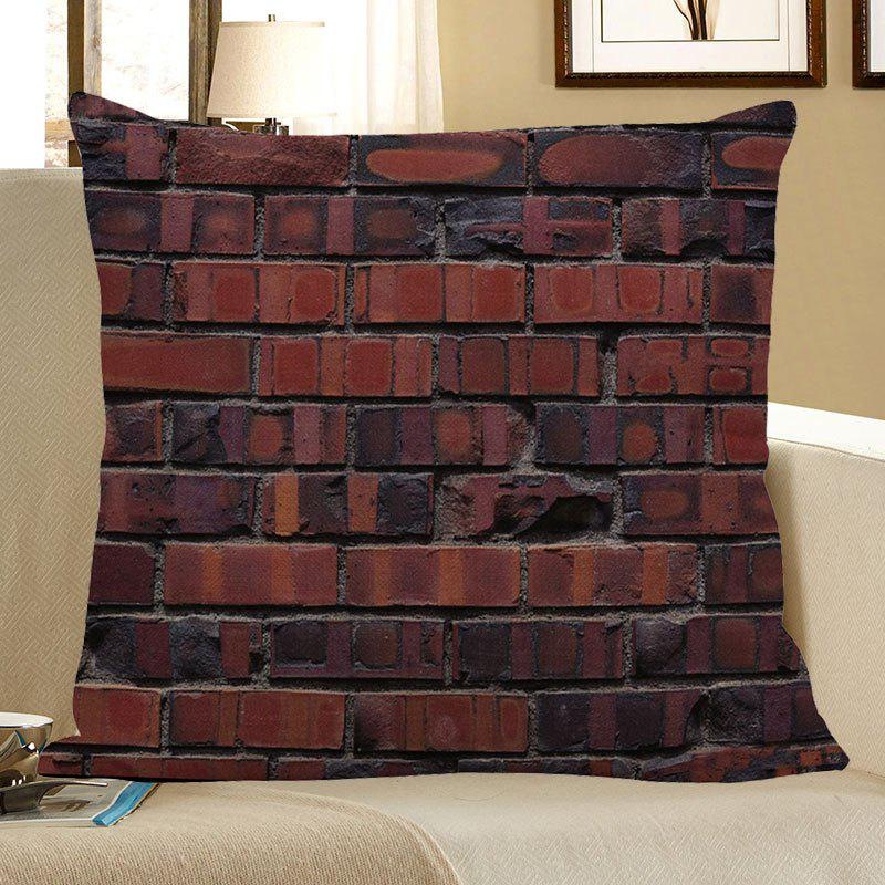 Vintage Bricks Pattern Pillow Case - COLORMIX W18 INCH * L18 INCH