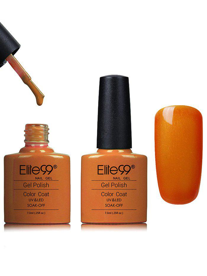 Kit de Vernis à Ongles Gel Shellac Imperméable Jaune et Orange -