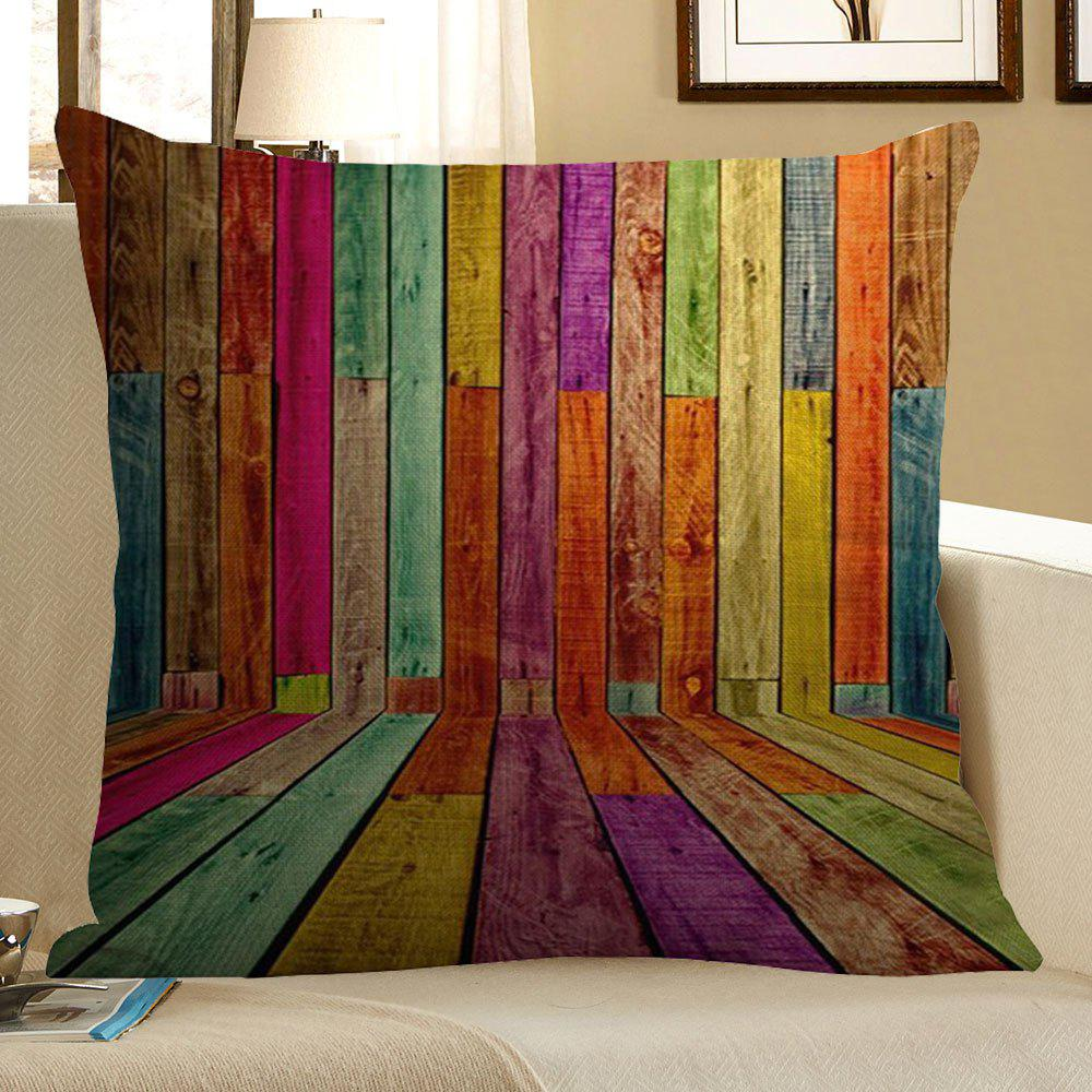 Colorful Wood Pattern Pillow Case - COLORFUL W18 INCH * L18 INCH