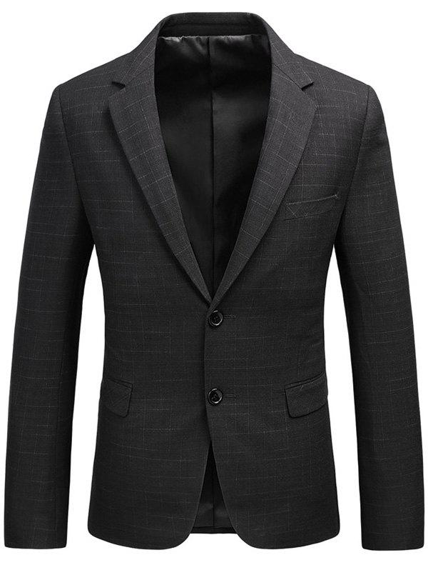 Lapel Single Breasted Flap Pocket Heathered Blazer single breasted lapel flap pocket business blazer
