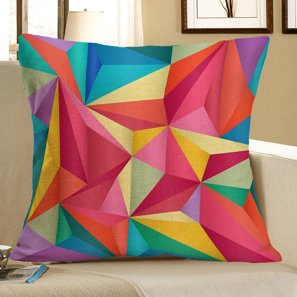 Linen Geometric Printed Throw Pillow Case - COLORFUL W18 INCH * L18 INCH