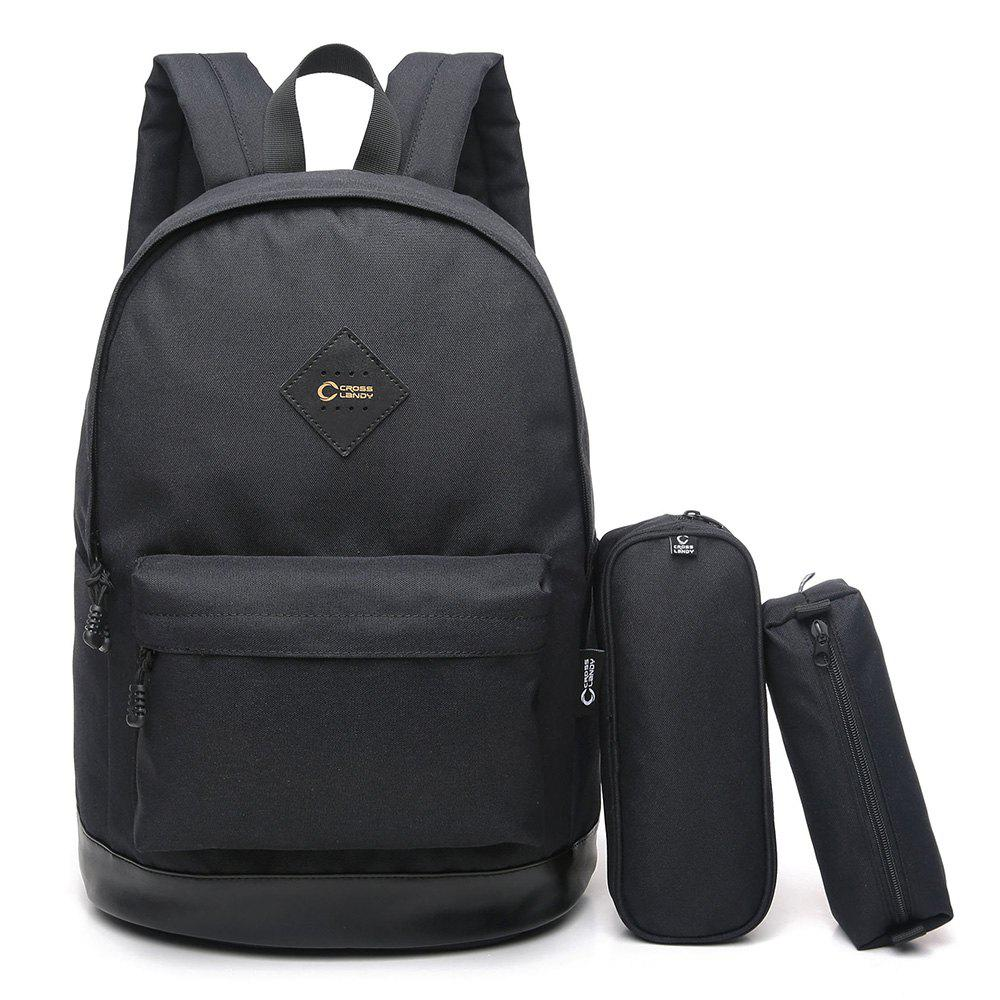 3 Pieces Backpack Set - BLACK VERTICAL