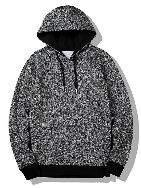 Heathered Flocking Hoodie - GRAY L