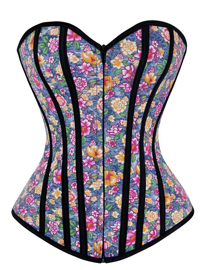 Floral Sweetheart Corset Top - FLORAL 2XL