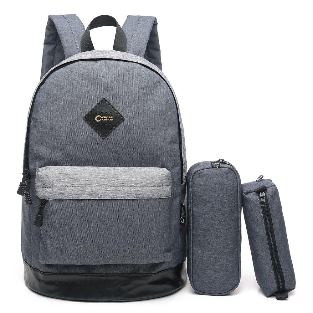3 Pieces Backpack Set - GRAY VERTICAL