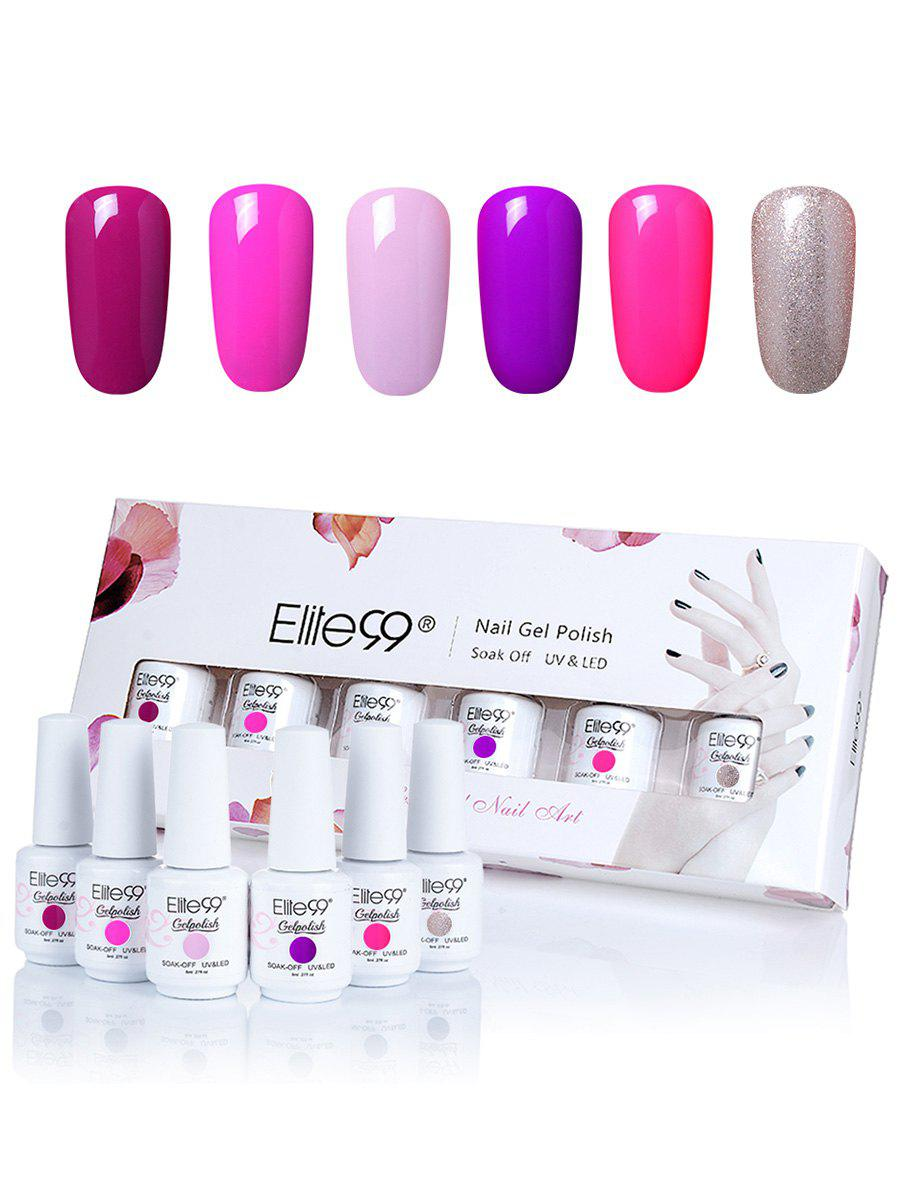 6 Colors Elite99 Kit UV Gel Nail Polish Set -