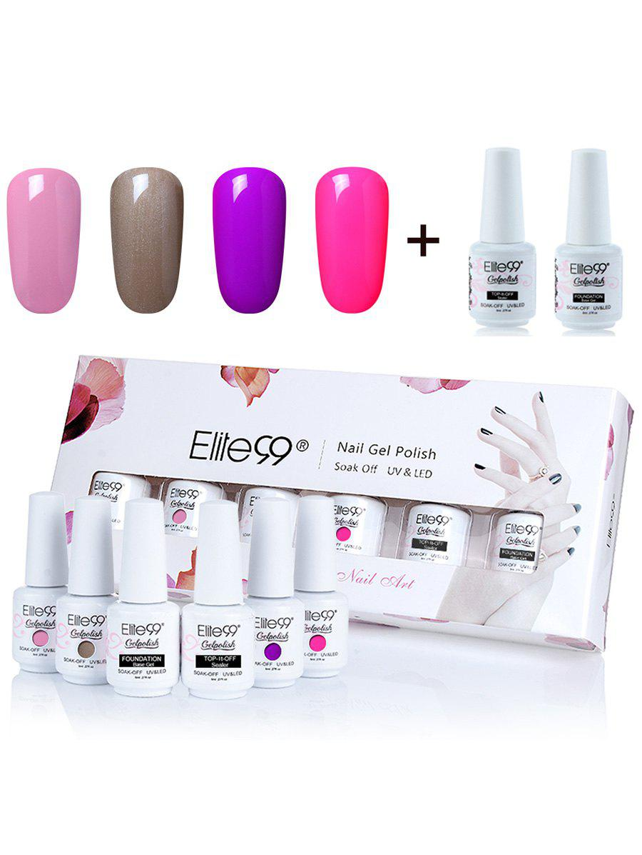 UV LED Elite99 Gel Nail Polish Manicure Kit 4 Colors Set -