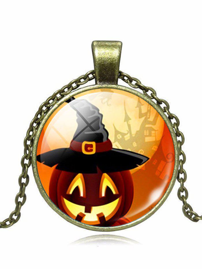 Halloween Pumpkin Wizard Hat Pendant Necklace от Dresslily.com INT