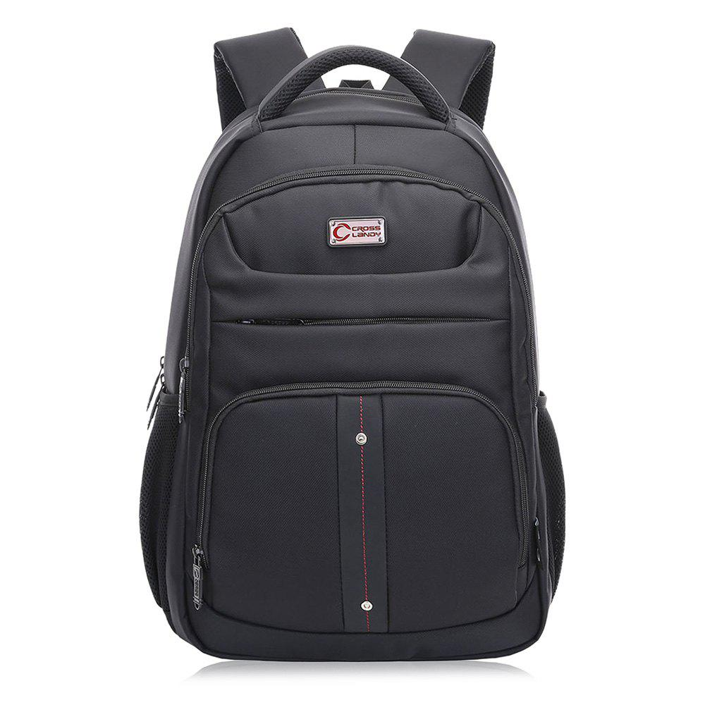 Padded Strap Top Handle Laptop Backpack - BLACK VERTICAL
