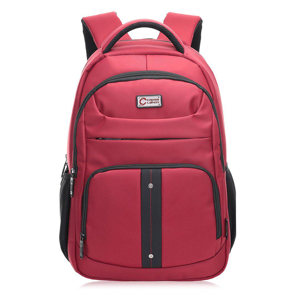 Padded Strap Top Handle Laptop Backpack - RED VERTICAL