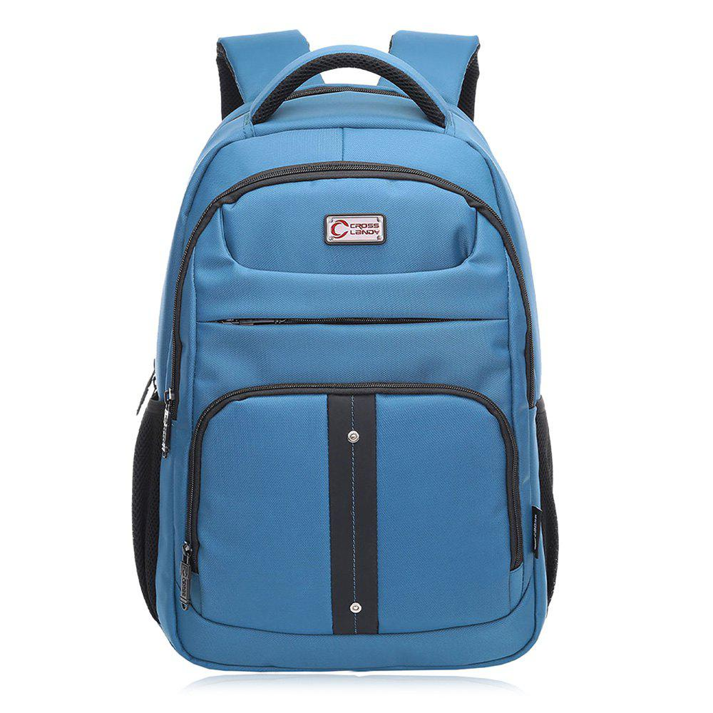 Padded Strap Top Handle Laptop Backpack - BLUE VERTICAL