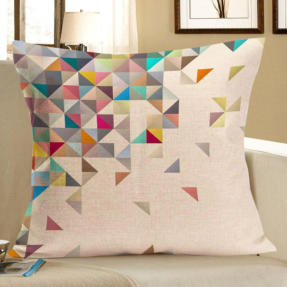 Geometric Printed Home Decor Linen Pillow Case - COLORFUL W18 INCH * L18 INCH