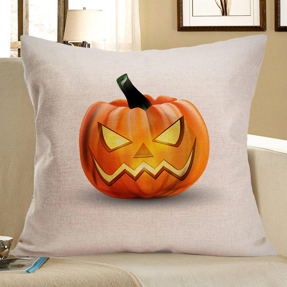 Halloween Pumpkin Printed Pillow Case - EARTHY W18 INCH * L18 INCH