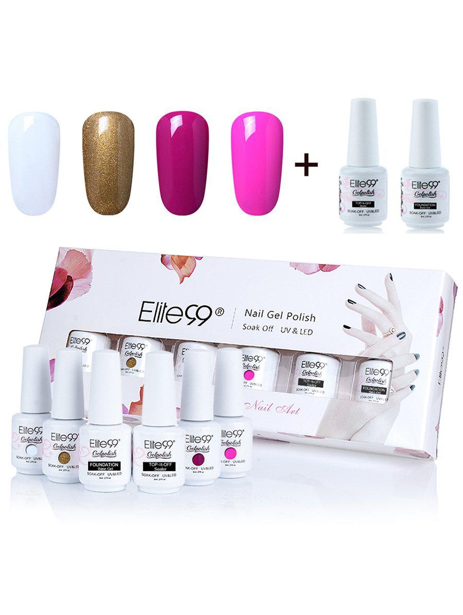 Elite99 6 Pieces Lacquer UV LED Soak Off Gel Nail Polish Set -