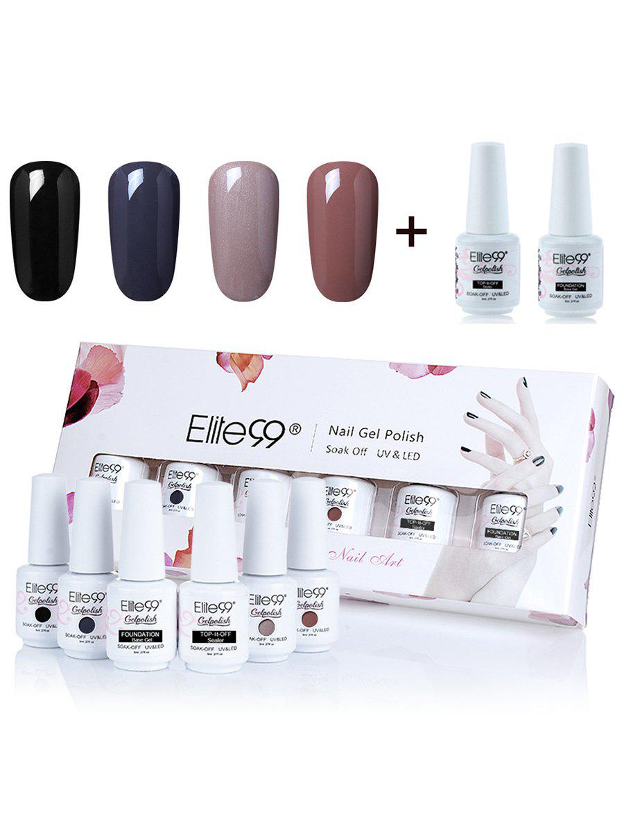 Elite99 Deep 4 Colors UV LED Soak Off Gel Nail Polish Set -