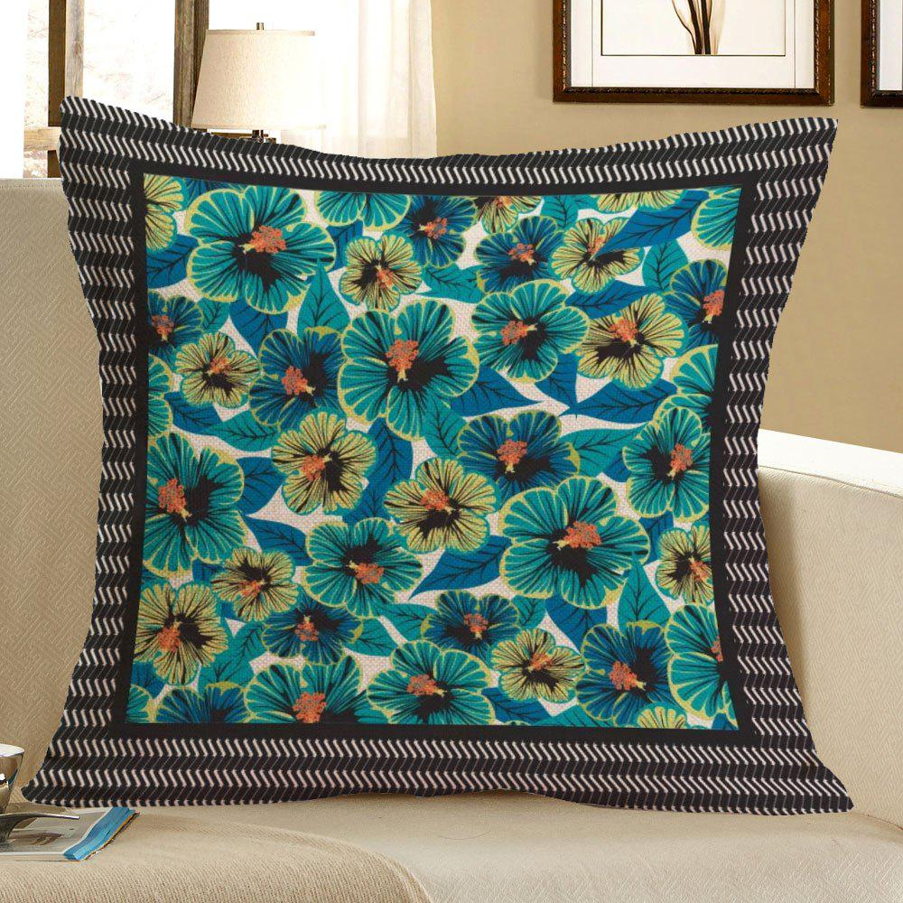 Home Decor Tiny Flowers Pattern Pillow Case - BLUE W18 INCH * L18 INCH