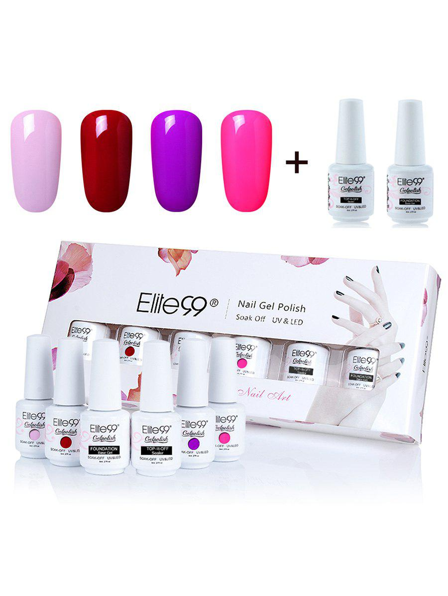 Elite99 6 Piece Polish LED Soak Off Gel Nail Set -