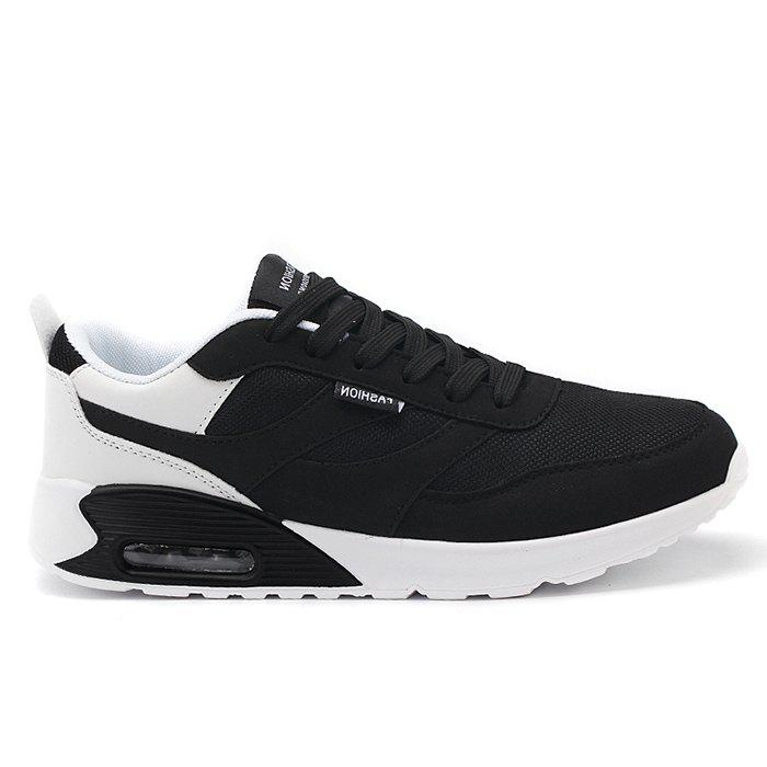 Casual Mesh Breathable Jogging Athletic Sneakers - BLACK 44