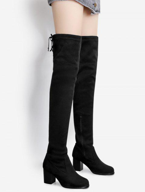 82c21c6dcae LIMITED OFFER  2018 Pointed Toe Suede Over The Knee Boots In BLACK ...
