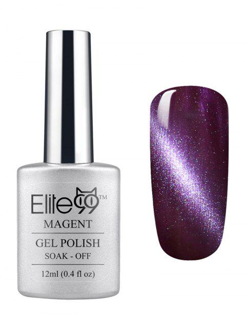 3D Soak Off UV LED Purple Series Magnetic Cat Eye Elite99 Gel Nail Polish - 02