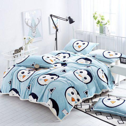 Penguins Print Soft Throw Blanket - CLOUDY DOUBLE