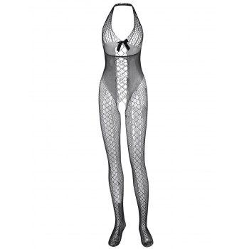 Halter Fishnet Sheer Bodystockings