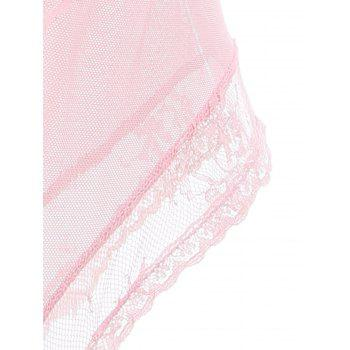 See Through Underwire Lace Teddy - Rose Clair ONE SIZE