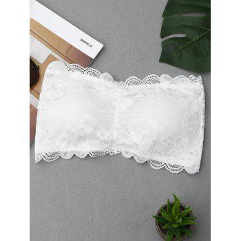Scalloped Lace Tube Bra